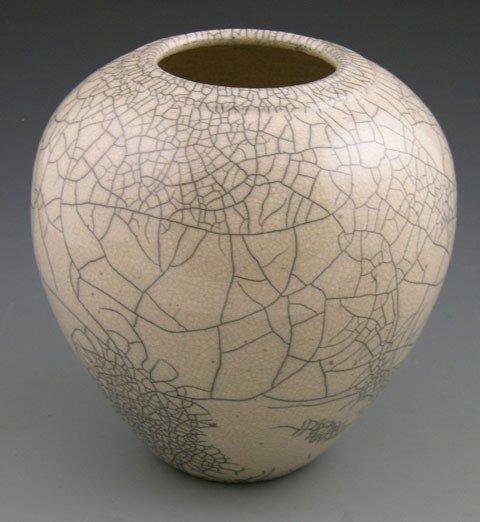 11: Leslie Mitchell, Crackleware Baluster Vase, 1988,