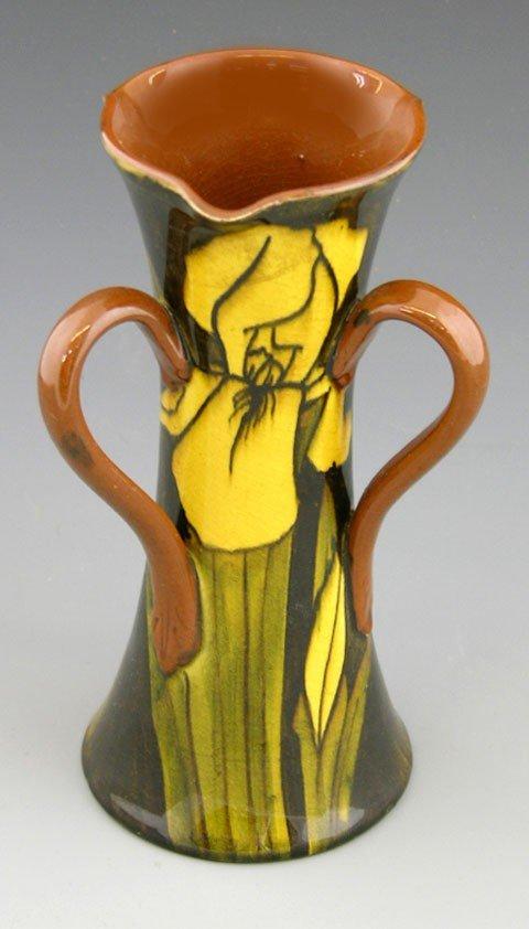 12: Watanabe, Glazed Pottery Three Handled Vase, 20th c
