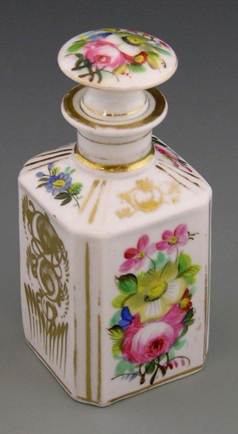 14: Old Paris Porcelain Perfume Bottle, c. 1850, the si