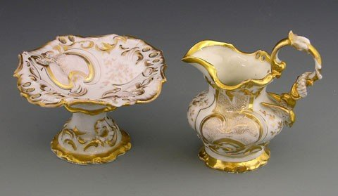 18: Two Pieces of KPM Porcelain, 19th c., one a cream p