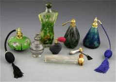 370 Group of Eight Perfume Bottles 20th c including