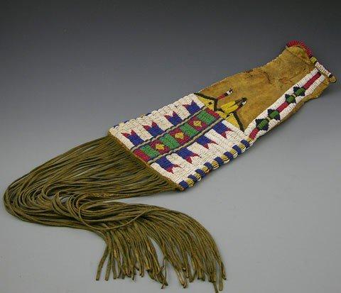 901: Native American Beadwork Deerskin Legging, 19th c.