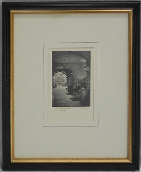 """4: Eugene Delcroix (1892-1967), """"Patio of Maison Seigno"""