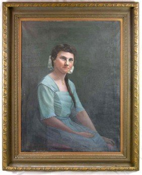 "5: M. F. Weaver, ""Portrait of a Woman in a Blue Dress,"""