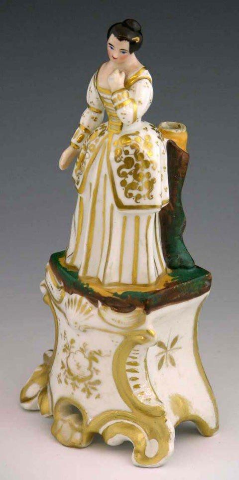 15: Continental Porcelain Figural Parfumier, 19th c., w