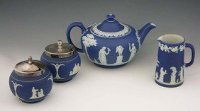 18: Four-Piece Collection of Wedgwood and Adams Jasperw