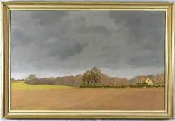 "24: J. G. Connal, ""English Farm Scene,"" 20th c., oil on"
