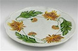 102 Majolica Charger late 19th c by Villeroy and Bo