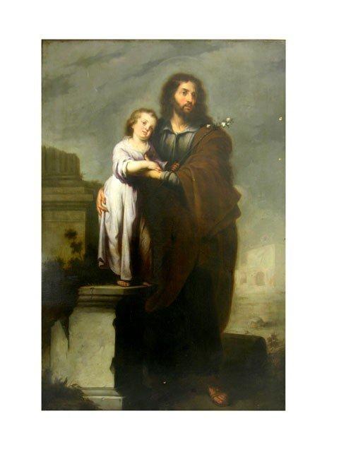 "155: Attr. Bartolome Esteban Murillo (1618-1682), ""St."