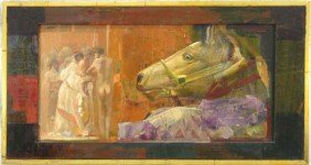 "1074: Mersad Berber (1940-   ), ""Horse Observing People"
