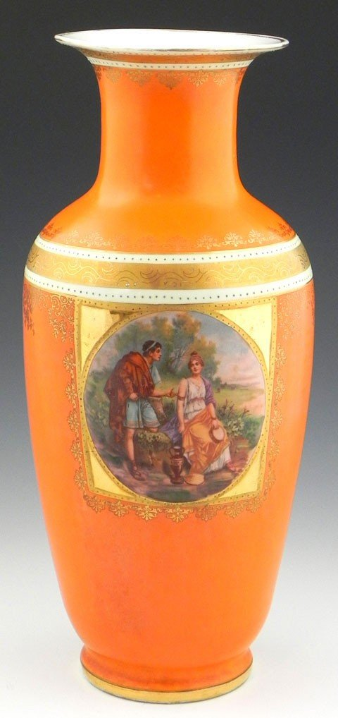 8: Royal Vienna Style Baluster Vase, late 19th c., with