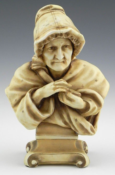 12: Turn Teplitz Pottery Bust, c. 1880, by Alfred Stell