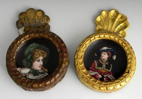 19: Two Hand Painted Porcelain Plates, 19th c., one of