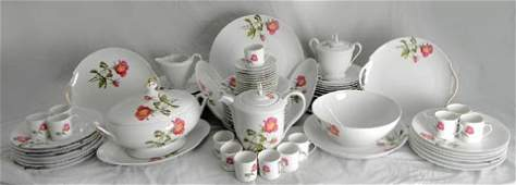 448: Eighty-One Piece Set of Limoges Porcelain Dinner W
