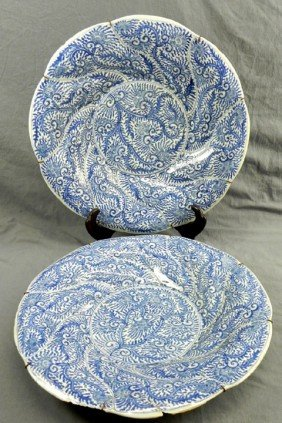 Pair Of Large Japanese Arita Porcelain Chargers, 19