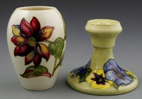 119: Two Pieces of Moorcroft Pottery, 20th c., a small