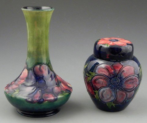 126: Two Pieces of Moorcroft Pottery, 20th c., in the A