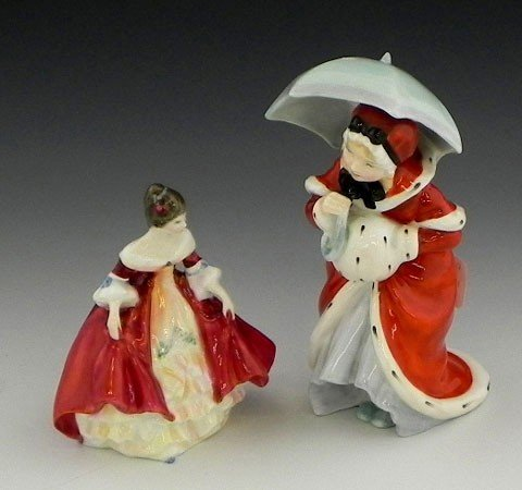 "142: Two Royal Doulton Figures- ""Miss Muffet,"" HN 1936,"