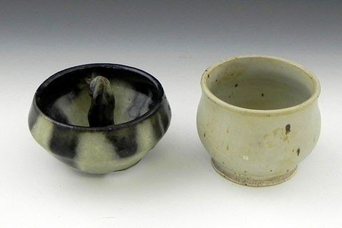 143: Two T. Collins Pottery Bowls, 20th c., one with a