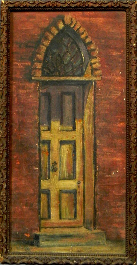 """178: M. A. Purdom, """"Gothic Door in Cathedral Alley, N."""