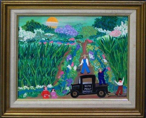 "185: Mary Anne de Boisblanc, ""Tending the Flowers,"" 20t"