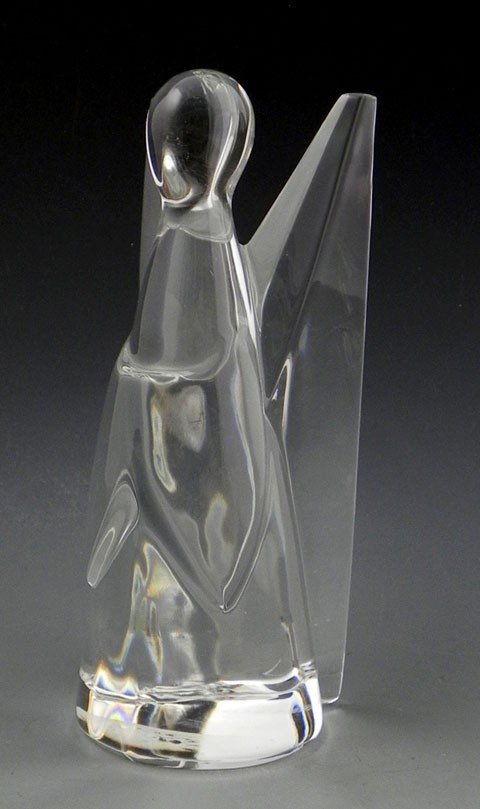 190: Tiffany & Co. Crystal Angel Figure, 20th c., with