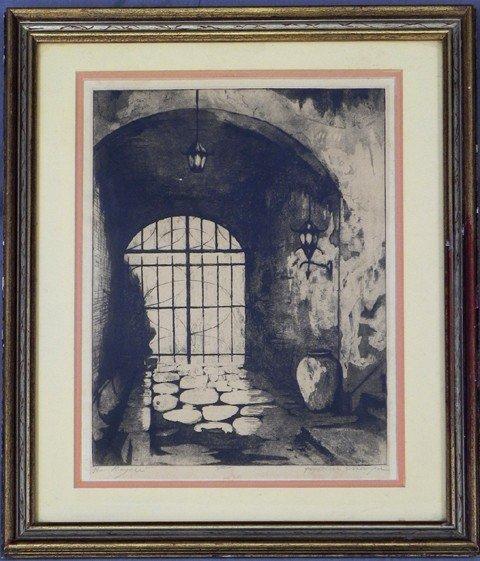 """2: H. Alvin Sharp (1910-1982), """"Rue Royale,"""" 20th c., e"""