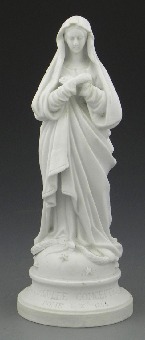 """11: Parian Figure of the """"Immaculee Concepcion,"""" the ba"""