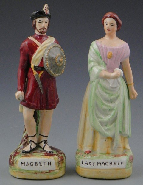 13: Pair of Polychromed Staffordshire Figures, early 20