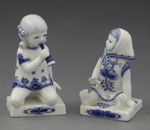 15: Pair of Royal Copenhagen Porcelain Figures, 20th c.