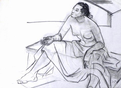"""185: After Francisco Zuniga (1912-1998), """"Seated Woman"""""""