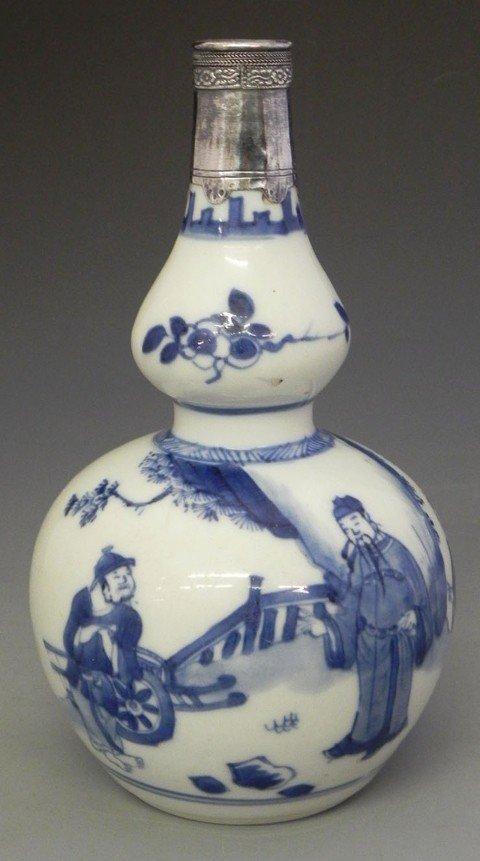 206: Chinese Porcelain Bottle Form Double Gourd Vase, e