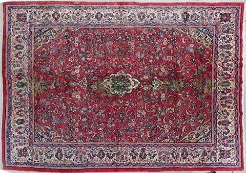 435: Antique Persian Mahal Carpet, 10' 7 x 14' 1.
