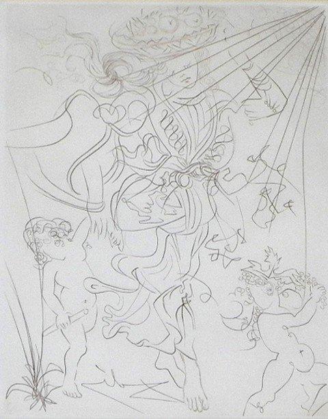 "447: Salvador Dali (1904-1989), ""Autumn,"" c. 1970, prin"