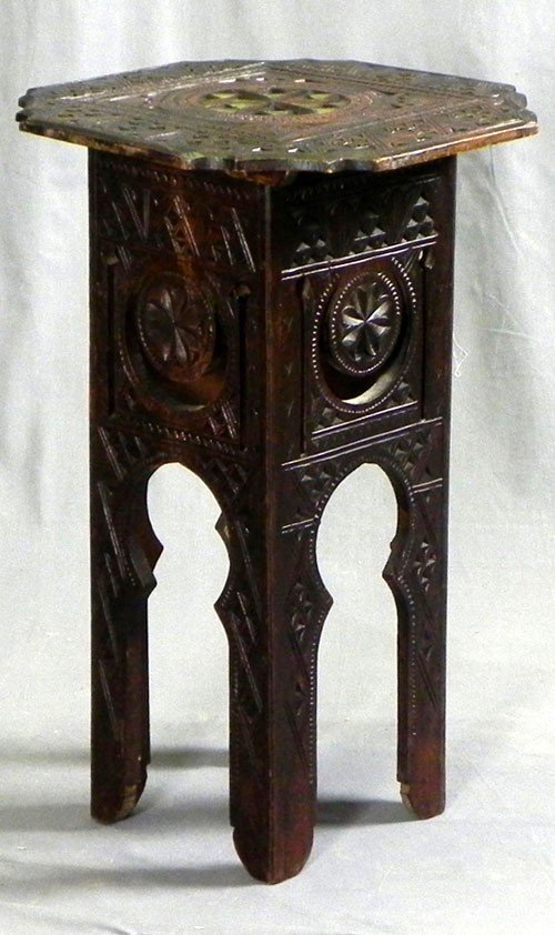 2: French Provincial Carved Oak Side Table, late 19th c