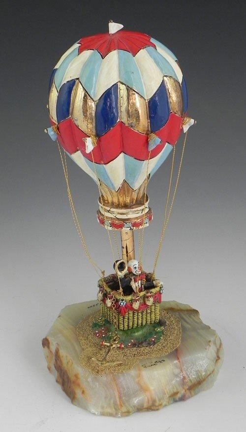 "11: Ron Lee, (1947-   ), ""Hobo in a Hot Air Balloon,"" 1"