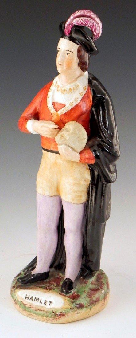 14: Polychromed Staffordshire Figure of Hamlet, 19th c.