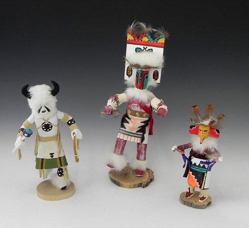 "21: Three Kachina Dolls, 20th c., consisting of ""Kashar"