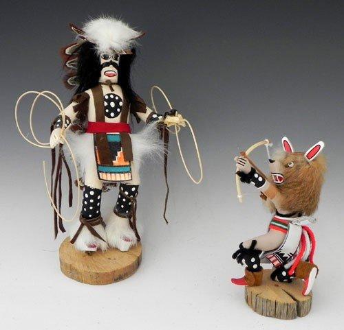 "24: Two Kachina Dolls, 20th c, consisting of ""Hoop Danc"