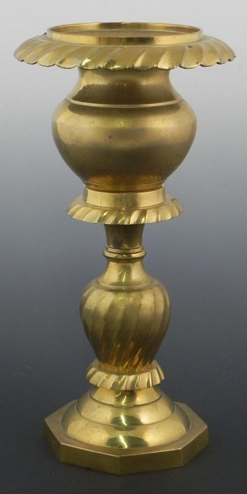 29: French Gilt Bronze Altar Candlestick, 20th c., with