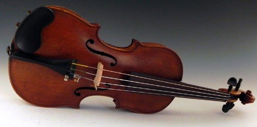 45: Child's Student Violin, early 20th c., H.- 20 3/4 i