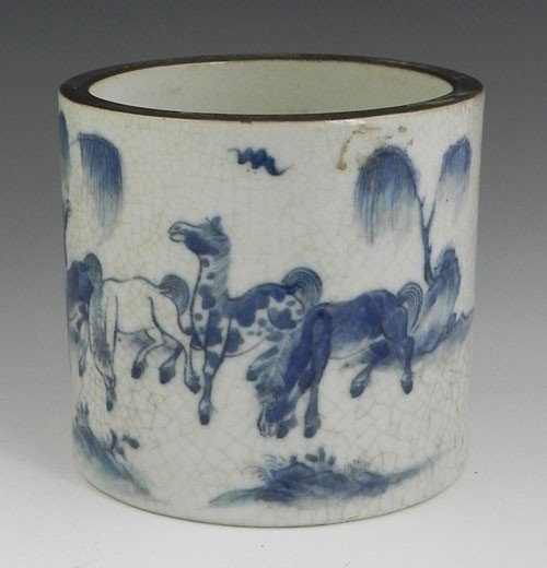 765: Chinese Porcelain Cylindrical Vase, 19th c., the s