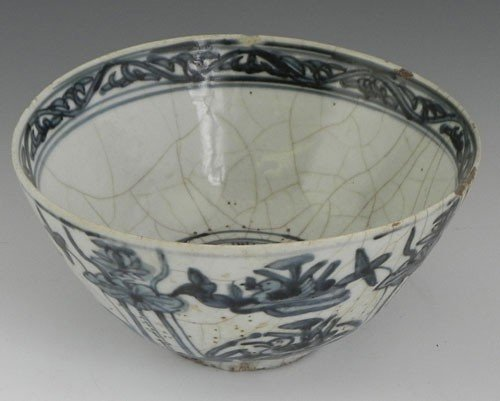 769: Chinese Porcelain Bowl, 19th c., the rim with coba