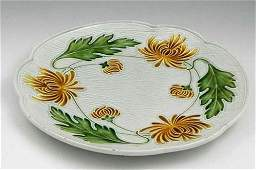 963 Majolica Charger late 19th c by Villeroy and Bo