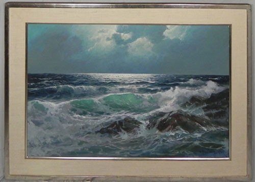 "1022: Alexander Dzigurski (1911-1995), ""Waves Crashing"