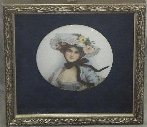 """1085: English School, """"Portrait of a Woman in a Bonnet"""