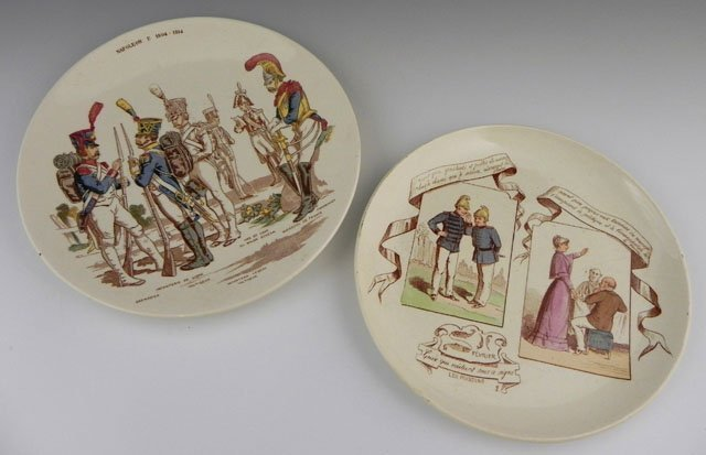 "10: Two French Plates, 19th c., consisting of ""Fevrier,"