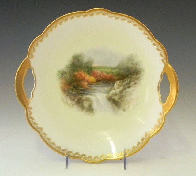 18: Limoges Porcelain Cake Tray, c. 1900, by G. Demarti