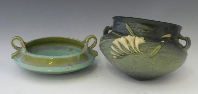 19: Two Pieces of American Pottery, 20th c., consisting