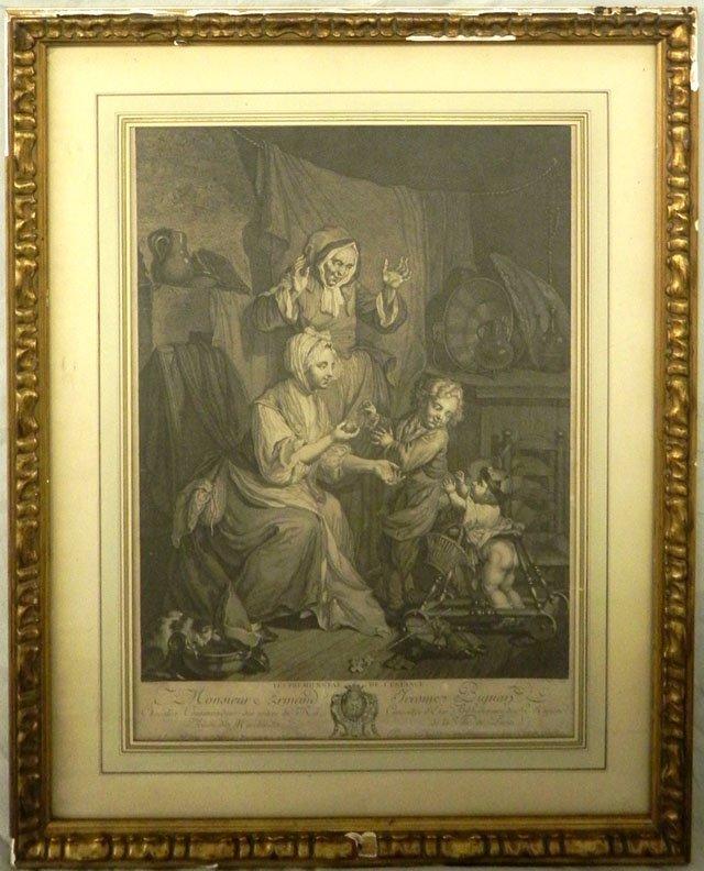 """53: J. F. Schenau, """"Le Premier Pas de L'Enfance,"""" 19th"""